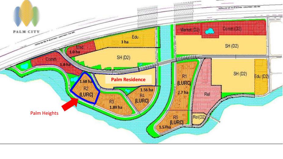 Mặt bằng tổng thể KĐT Palm City