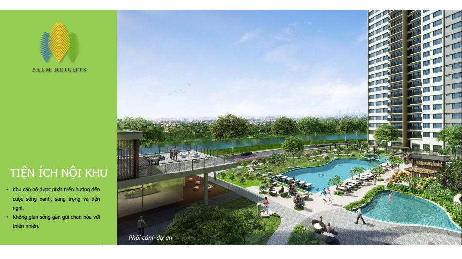 Khuôn viên dự án Palm heights
